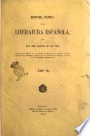Historia crítica de la literatura española par don José Amador de Los Rios