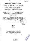 Historia cronológica del pueblo de Dios desde Adan hasta Jesu-Christo