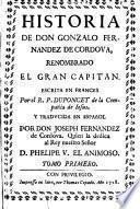 Historia de D.Gonzalo Fernández de Córdoba `El Gran Capitan`
