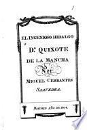 Historia de D. Quixote de la Mancha