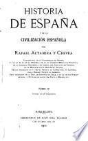 Historia de Espan͠a y de la civilización espan͠ola