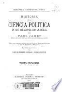 Historia de la ciencia política en sus relaciones con la moral