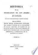 Historia de la dominacion de los arabes en España, 2