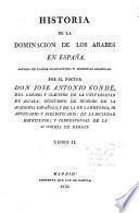 Historia de la dominación de los Arabes en España