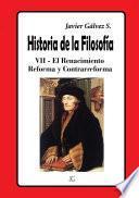 Historia de la Filosofía VII Reforma y Contrarreforma