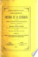 Historia de la geografia y de los descubrimientos geograficos escrita