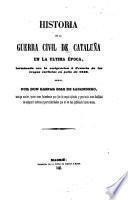 historia de la guerra civil de cataluna