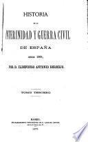 Historia de la interinidad y guerra civil de España desde 1868