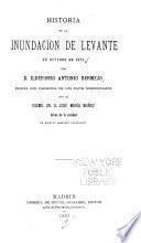 Historia de la inundación de Levante en octubre de 1879