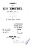 Historia de la lengua y de la literatura catalana, desde su origen hasta nuestros dias
