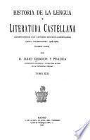Historia de la lengua y literatura castellana
