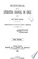 Historia de la literatura colonial de Chile