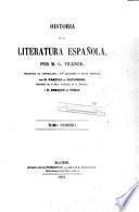 Historia de la literatura española, 1