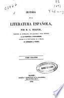 Historia de la literatura española: (1854. 566 p.)