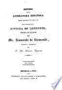Historia de la literatura española desde mediados del siglo XII hsta nuestros dias