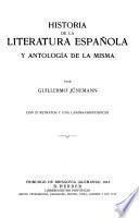 Historia de la literatura española y antología de la misma