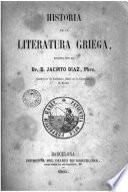 Historia de la literatura griega, 1