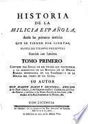 Historia de la milicia española