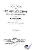 Historia de la monarquía en Europa