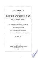 Historia de la poesía castellana en la edad media. 1911-16