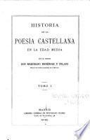 Historia de la poesía castellana en la edad media
