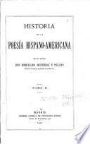 Historia de la poesía hispano-americana