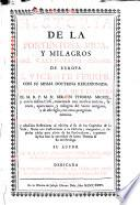 Historia de la portentosa vida y milagros de San Vicente Ferrer