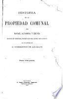 Historia de la propiedad comunal