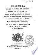 Historia de la provincia de Aragón