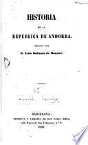 Historia de la República de Andorra