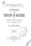 Historia de la revolución de Inglaterra