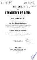 Historia de la revolución de Roma