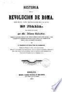 Historia de la revolución de Roma...
