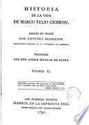 Historia de la vida de Marco Tulio Cicerón escrita en inglés por---