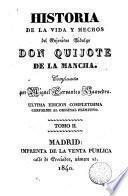 Historia de la vida y hechos del ingenioso hidalgo Don Quijote de la Mancha,2