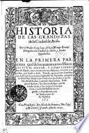 Historia De Las Grandezas de la Ciudad de Auila