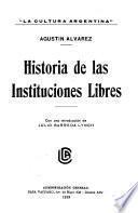 Historia de las instituciones libres