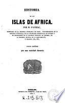 Historia de las islas de África