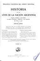 Historia de las leyes de la nación argentina