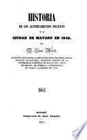 Historia de los Acontecimientos políticos de la ciudad de Mataró en 1843