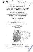 Historia del Almirante Don Cristóbal Colón