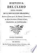 Historia del clero en el tiempo de la Revolucion francesa