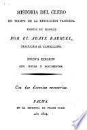 Historia del Clero en tiempo de la Revolución francesa