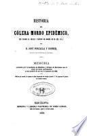 Historia del cólera-morbo epidémico que invadió la ciudad y partido de Gerona en el año de 1854