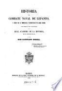 Historia del combate naval de Lepanto (etc.)
