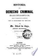 Historia del derecho criminal de los pueblos antiguos