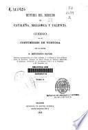 Historia del derecho en Cataluña, Mallorca y Valencia