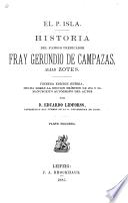 Historia del famoso predicador fray Gerundio de Campazas, alias Zotes