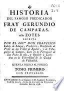 Historia del famoso predicador fray Gerundio de Campazas, aliàs Zotes