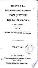 Historia del ingenioso hidalgo don Quixote de la Mancha,3